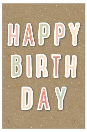 Birthday card happy birthday 3D