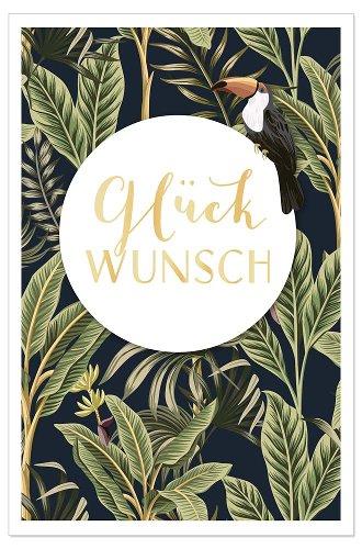 Congratulations card Glückwunsch jungle