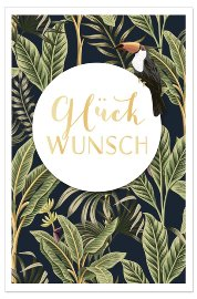 Congratulations card Glückwunsch jungle