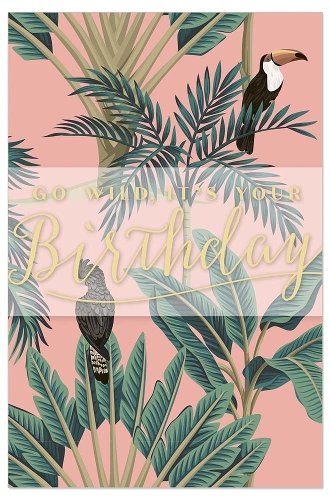 Geburtstagskarte Spruch Go Wild, It's Your Birthday