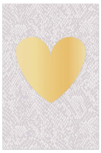 Greeting card snake pattern heart