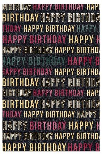 Geburtstagskarte Happy Birthday Typo