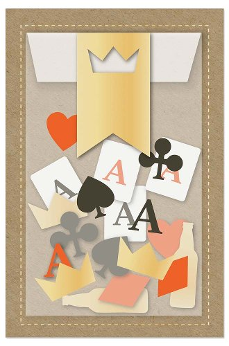 Grußkarte Kartenspiel Konfetti