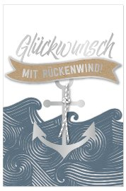 Congratulations card Glückwunsch mit Rückenwind