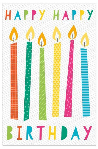 Greeting card kids candles