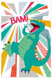 Grußkarte Kinder Dino Lentikular