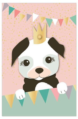 Greeting card kids dog
