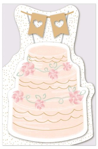Wedding card cake shape-punched