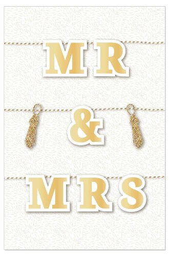 Wedding card Mr & Mrs 3D
