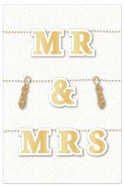 Hochzeitskarte Mr & Mrs 3D