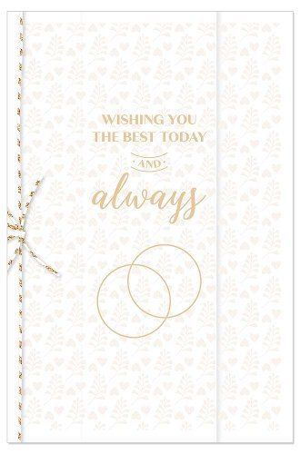 Wedding card rings Wishing you the best today and always