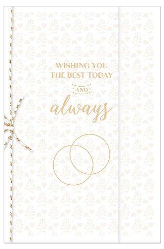 Hochzeitskarte Ringe Spruch Wishing You The Best Today And Always