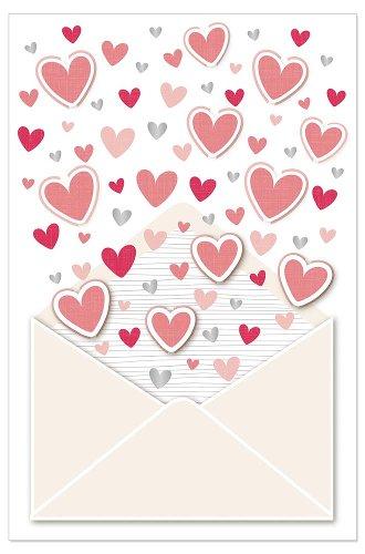 Wedding card hearts 3D