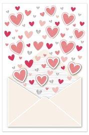 Hochzeitskarte Herzen 3D