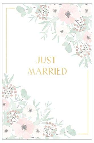 Hochzeitskarte Blüten Spruch Just Married