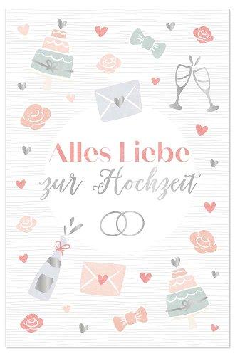 Hochzeitskarte Icons Spruch Alles Liebe Zur Hochzeit