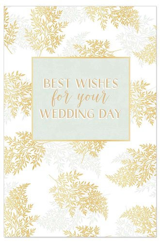 Hochzeitskarte Farn Spruch Best wishes for your wedding day
