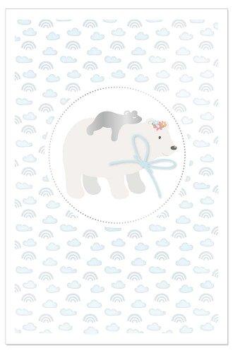 Card baby polar bear blue