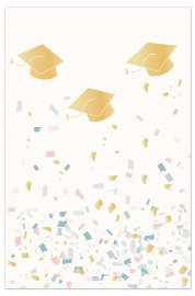Card graduation confetti