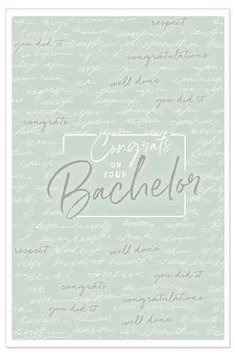 Karte Spruch Congrats To Your Bachelor