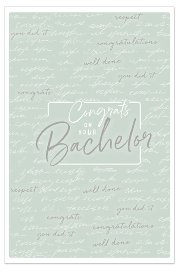 Card congrats to your bachelor