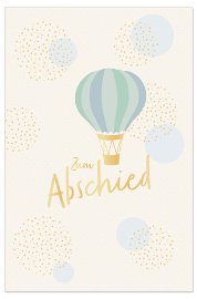 Farewell card hot air balloon