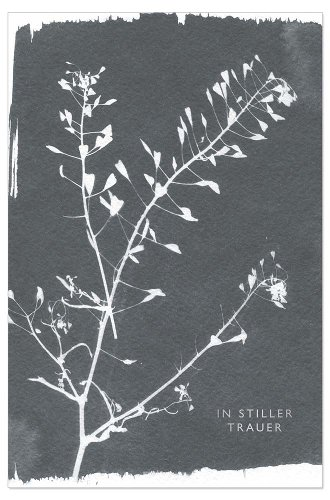 Mourning card branch In tiefer Trauer