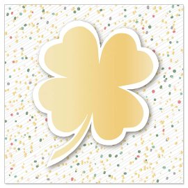 Mini card shamrock 3D
