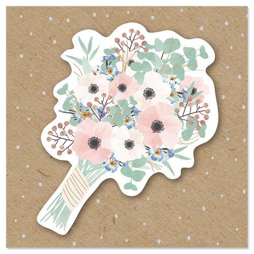 Mini card bouquet 3D