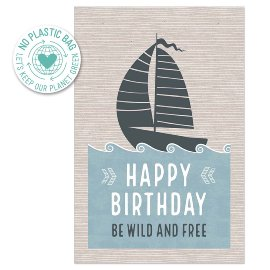 Geburtstagskarte Segelboot Spruch Happy Birthday Follow Your Dreams