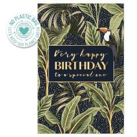 Geburtstagskarte Dschungel Spruch Very Happy Birthday To A Speacial One