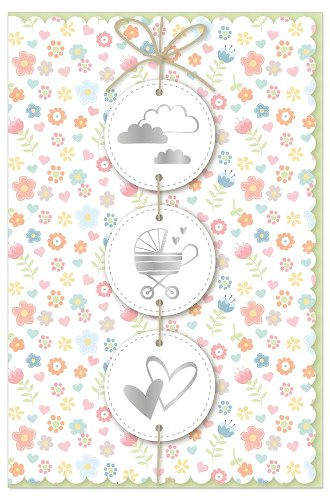Card baby icons garland 3D