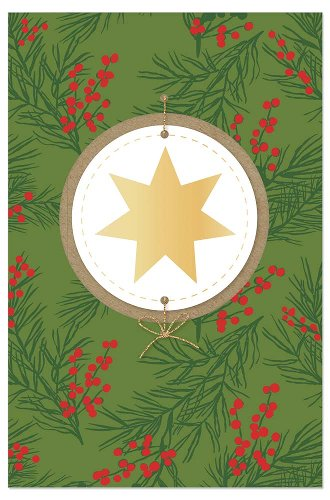 Christmas card star berries