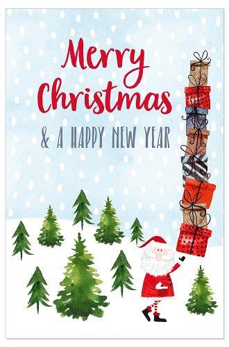 Weihnachtskarte Lentikular Weihnachtsmann