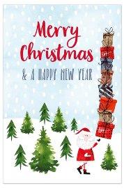 Christmas lenticular Santa