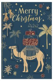 Christmas card camel 3D