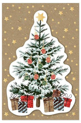 Weihnachtskarte Tannenbaum 3D