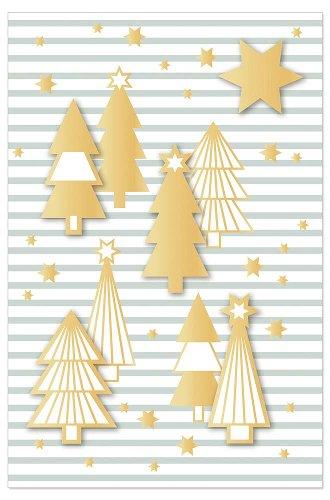 Weihnachtskarte Tannenbäume 3D