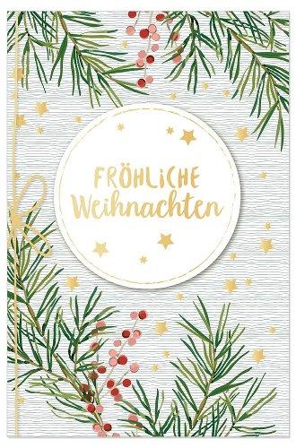 Christmas card fir branches 3D