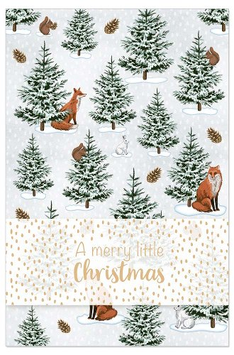 Christmas card winter forest