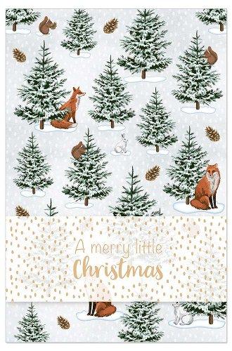Weihnachtskarte Winter Wald