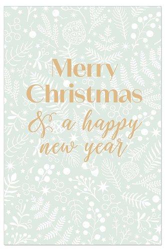 Weihnachtskarte Beeren und Zweige