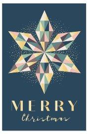 Christmas card Merry Christmas star