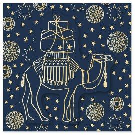 Minikarte Weihnachten Kamel 3D