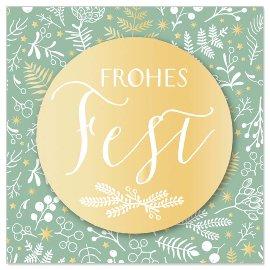 Mini card Frohes Fest 3D