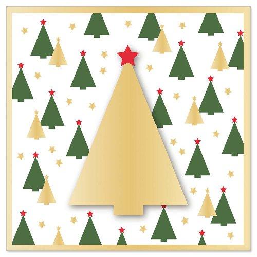 Minikarte Weihnachten Tannenbäume 3D