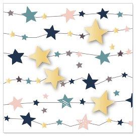 Minikarte Weihnachten Sterne 3D