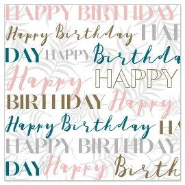 Minikarte Schriftzug Happy Birthday