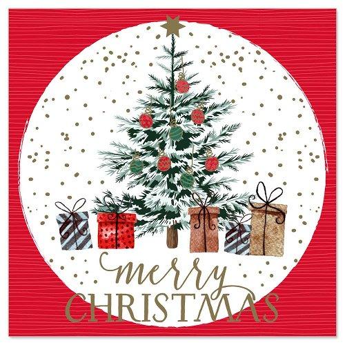 Mini card fir tree gifts