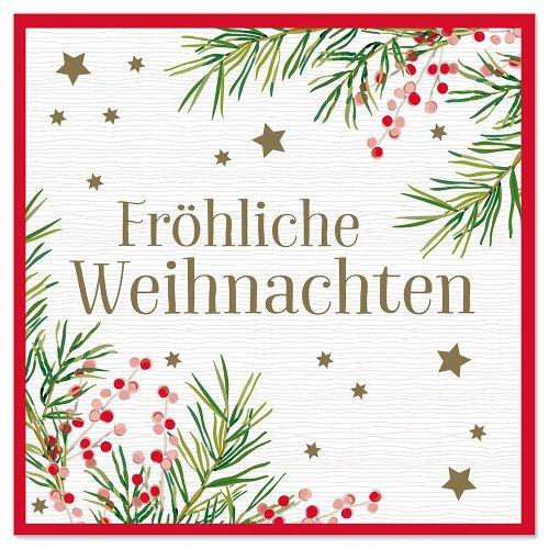 Minikarte Weihnachten Kiefernzweige